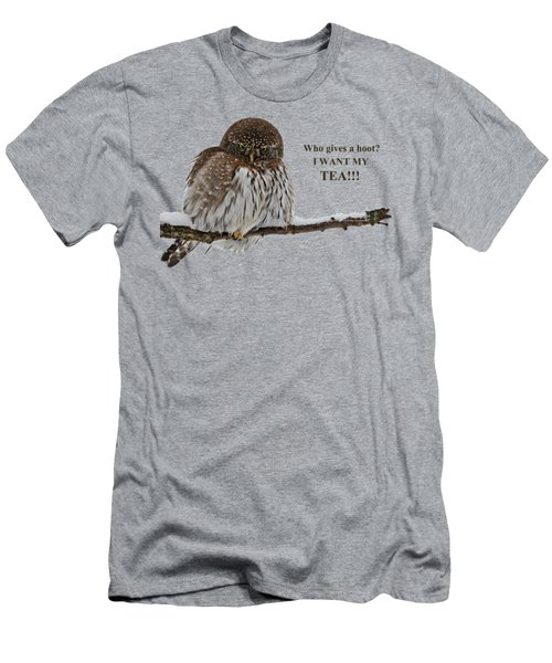 Tea Owl Men's T-Shirt (Athletic Fit)