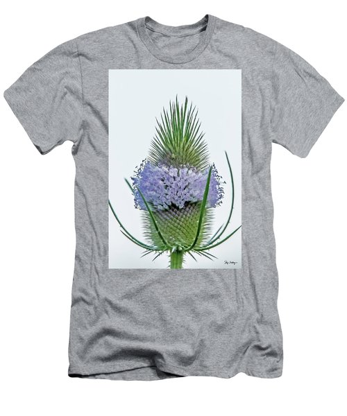 Teasel On White Men's T-Shirt (Athletic Fit)