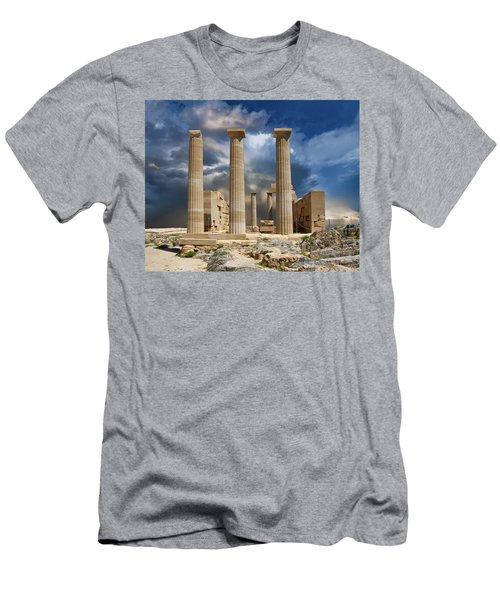 Temple Of Athena Men's T-Shirt (Athletic Fit)