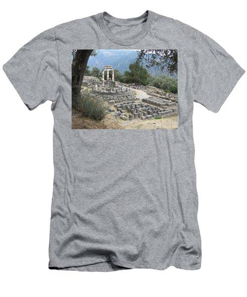 Temple Of Athena At Delphi Men's T-Shirt (Athletic Fit)