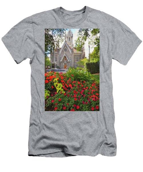Temple Square Flowers Men's T-Shirt (Athletic Fit)