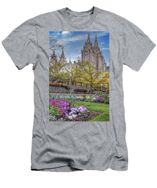Temple Square Salt Lalke City Utah Men's T-Shirt (Athletic Fit)