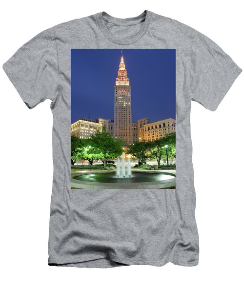 Terminal Tower Men's T-Shirt (Athletic Fit)