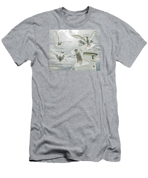 Tern Attack Men's T-Shirt (Slim Fit) by Brian Tarr