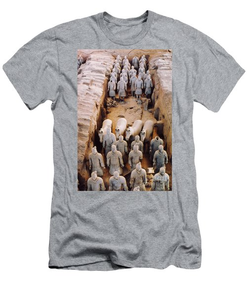 Men's T-Shirt (Slim Fit) featuring the photograph Terracotta Army by Heiko Koehrer-Wagner