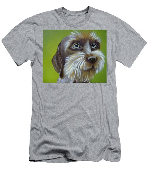 Terrier Waiting Patiently Men's T-Shirt (Athletic Fit)