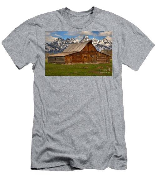 Teton Mountain Barn Men's T-Shirt (Slim Fit) by Adam Jewell