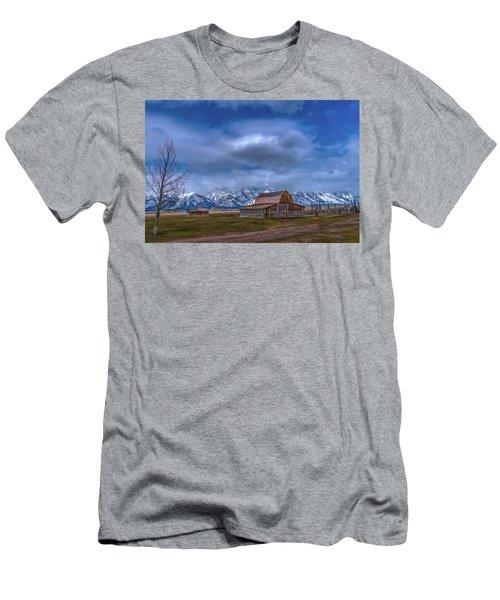 Teton National Park Mormon Row Men's T-Shirt (Athletic Fit)