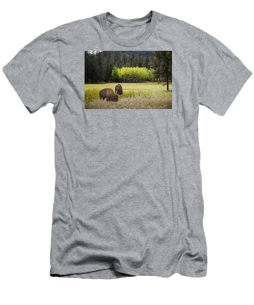 Men's T-Shirt (Slim Fit) featuring the photograph Tetonka by John Hix
