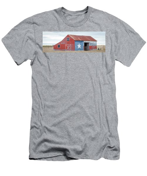 Texas Barn With Goats And Ram On The Side Men's T-Shirt (Athletic Fit)