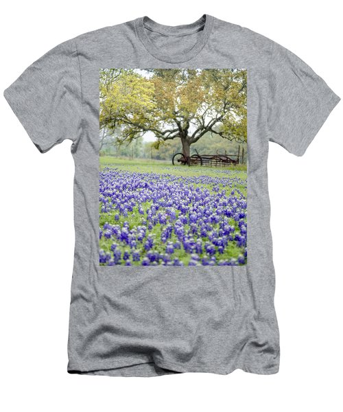 Texas Bluebonnets And Rust Men's T-Shirt (Athletic Fit)