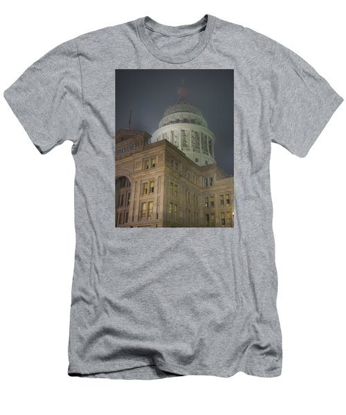 Texas Capitol In Fog Men's T-Shirt (Athletic Fit)