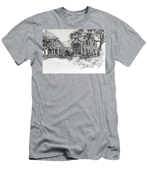 Men's T-Shirt (Athletic Fit) featuring the painting Texas House Portrait 4 by Hanne Lore Koehler