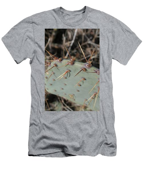 Men's T-Shirt (Slim Fit) featuring the photograph Texas Spikes by Laddie Halupa