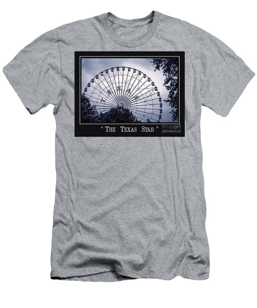 Texas Star In Blue Men's T-Shirt (Athletic Fit)