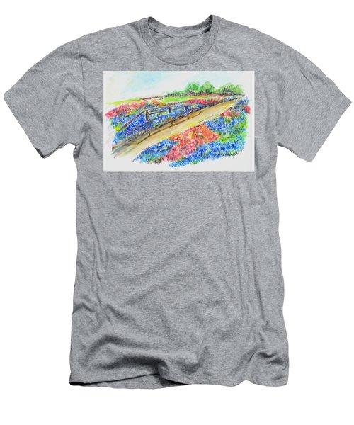Texas Wild Flowers Men's T-Shirt (Athletic Fit)