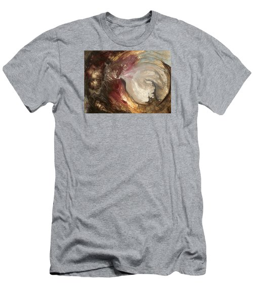 textured fluid acrylic original painting SACRED Men's T-Shirt (Athletic Fit)