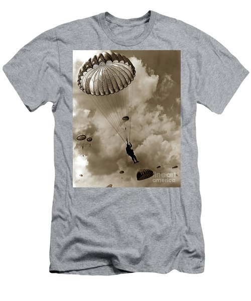 The 82nd Airborne  Hits The Silk Fort Ord 1953 Men's T-Shirt (Athletic Fit)
