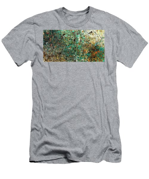 Men's T-Shirt (Slim Fit) featuring the painting The Abstract Concept by Carmen Guedez