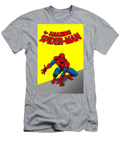 Men's T-Shirt (Athletic Fit) featuring the painting The Amazing Spider-man by Antonio Romero