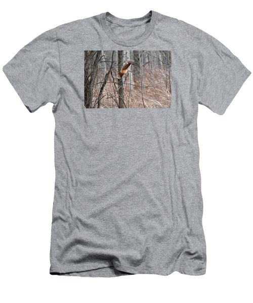 The American Woodcock In-flight Men's T-Shirt (Athletic Fit)