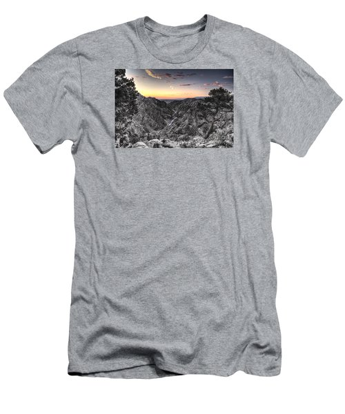 Men's T-Shirt (Slim Fit) featuring the digital art The Arkansas Through Royal Gorge by William Fields