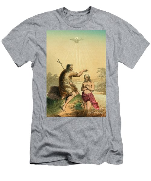 The Baptism Of Christ. Scene From The Life Of Jesus Christ  Detail Men's T-Shirt (Athletic Fit)