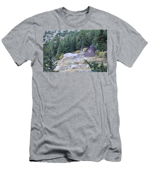 Men's T-Shirt (Slim Fit) featuring the photograph The Barr Trail A Frame by Christin Brodie