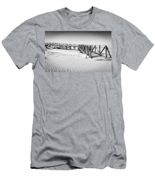 The Beach Walkway. Men's T-Shirt (Athletic Fit)