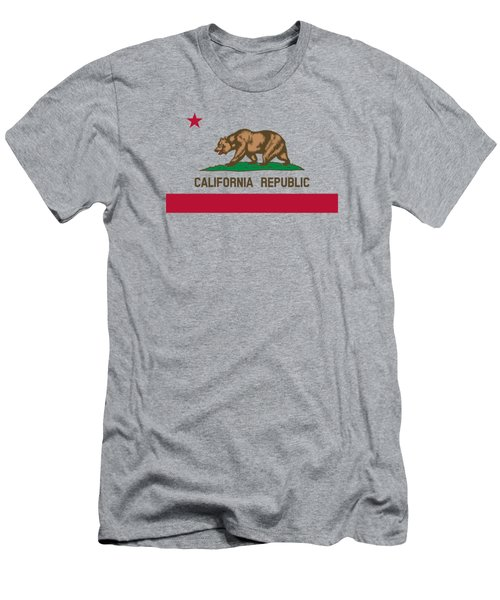 The Bear Flag - State Of California Men's T-Shirt (Athletic Fit)