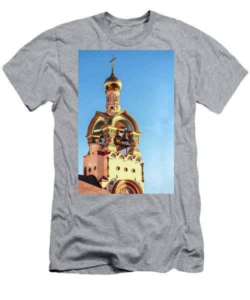 The Bell Tower Of The Temple Of Grand Duke Vladimir Men's T-Shirt (Athletic Fit)