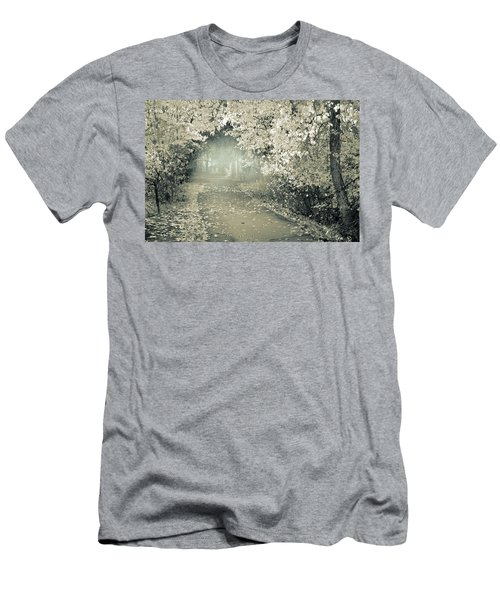 Men's T-Shirt (Slim Fit) featuring the photograph The Bench That Waits For You by Tara Turner