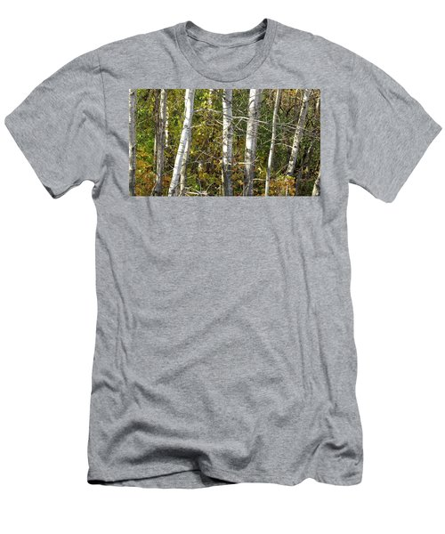 Men's T-Shirt (Slim Fit) featuring the photograph The Birches by Kimberly Mackowski