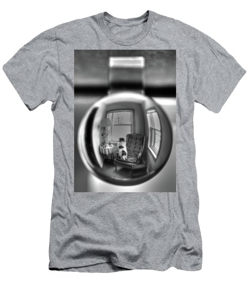 The Black And White Globe Dog Men's T-Shirt (Athletic Fit)