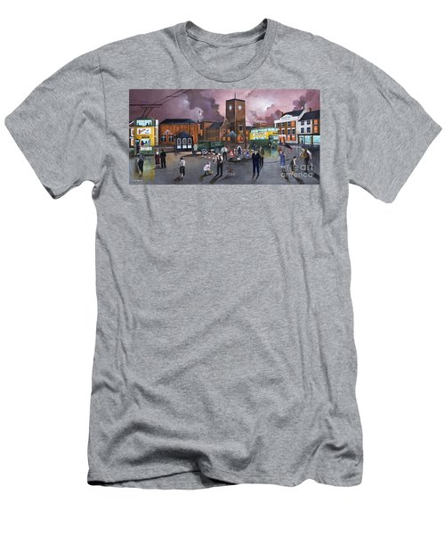 Dudley Trolley Bus Terminus 1950's Men's T-Shirt (Athletic Fit)