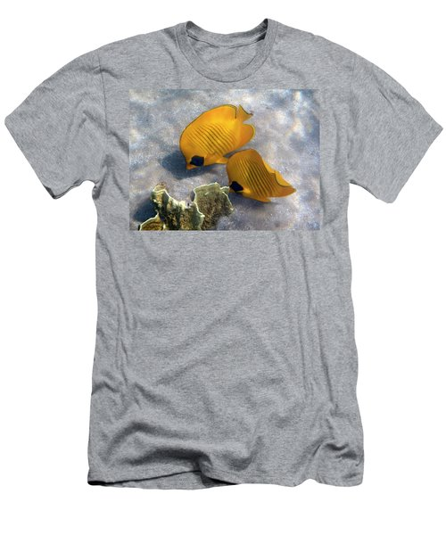 The Bluecheeked Butterflyfish Men's T-Shirt (Athletic Fit)