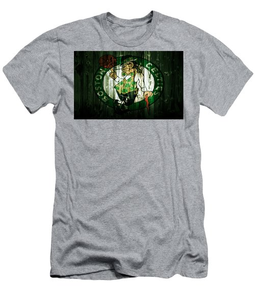 The Boston Celtics 5d Men's T-Shirt (Slim Fit) by Brian Reaves