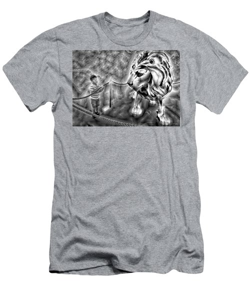 The Boy And The Lion 18 Men's T-Shirt (Athletic Fit)