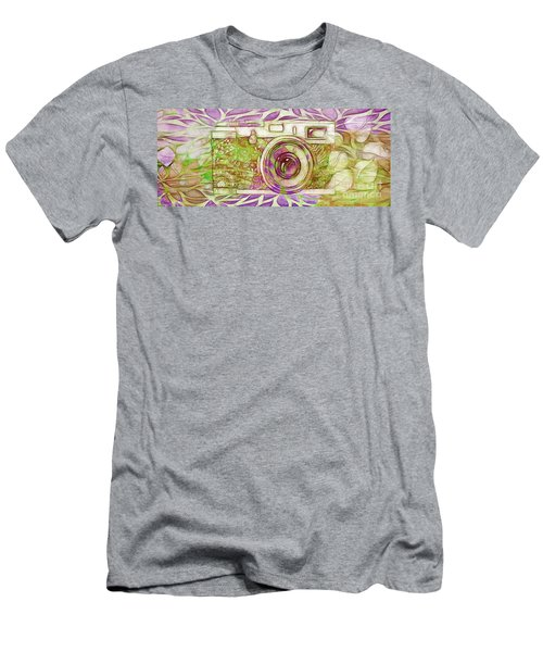 Men's T-Shirt (Slim Fit) featuring the digital art The Camera - 02c6t by Variance Collections