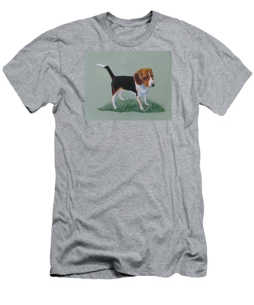 The Cautious Beagle Men's T-Shirt (Athletic Fit)