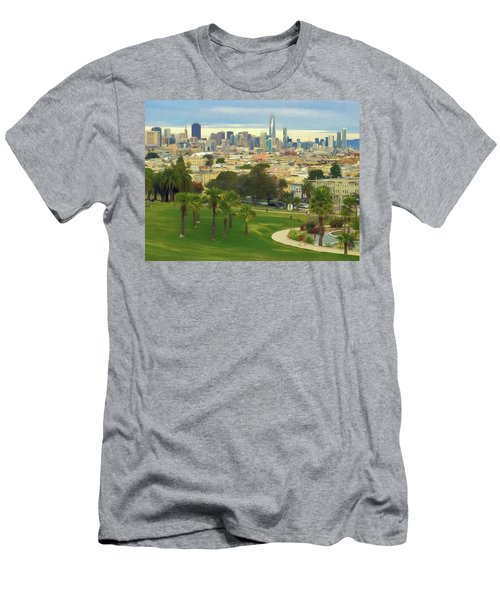 The City From Dolores Park Men's T-Shirt (Athletic Fit)