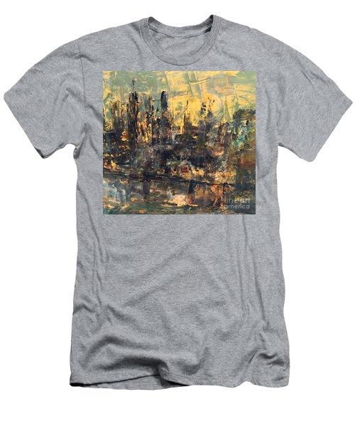 The City Men's T-Shirt (Slim Fit) by Nancy Kane Chapman