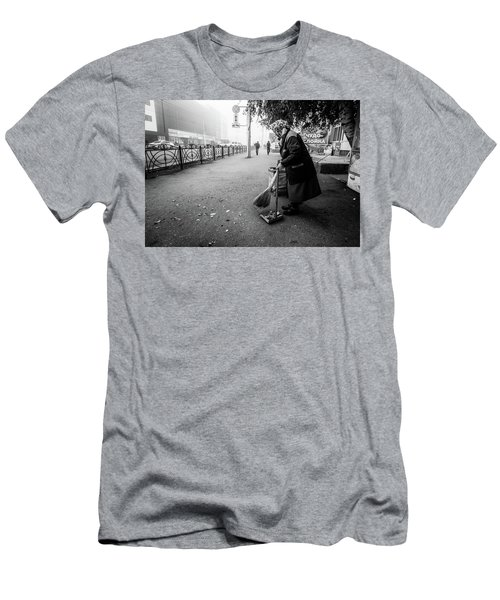 Men's T-Shirt (Athletic Fit) featuring the photograph The Cleaner Of Leaves by John Williams