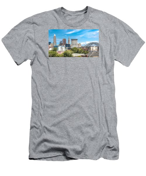 Men's T-Shirt (Slim Fit) featuring the photograph The Cleveland Skyline by Brent Durken