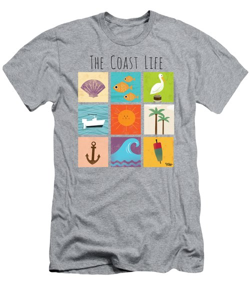 The Coast Life Men's T-Shirt (Athletic Fit)