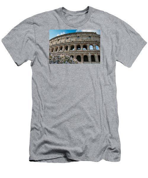 The Coliseum In Rome Men's T-Shirt (Slim Fit) by Kathleen Scanlan