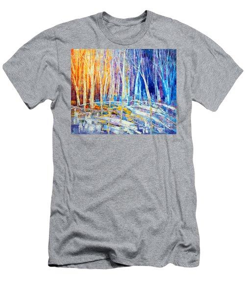 The Color Of Snow Men's T-Shirt (Slim Fit) by Tatiana Iliina