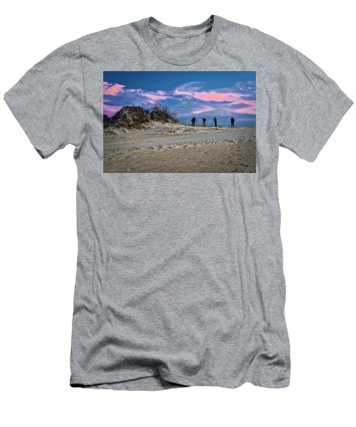 The Colors Of Sunset Men's T-Shirt (Slim Fit)