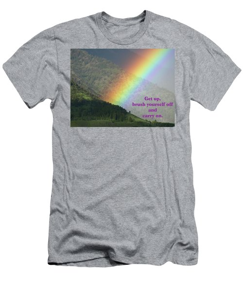 The Colors Of The Rainbow Carry On Men's T-Shirt (Slim Fit) by DeeLon Merritt