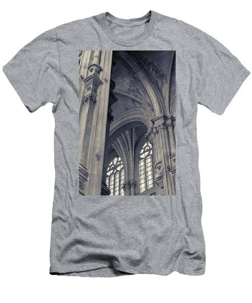 Men's T-Shirt (Slim Fit) featuring the photograph The Columns Of Saint-eustache, Paris, France. by Richard Goodrich